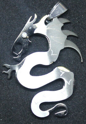 Black and Silver color Dragon Style Pendant Key Ring 316L Stainless Steel