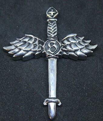 Wing Sword Style Pendant Key Ring 316L Stainless Steel