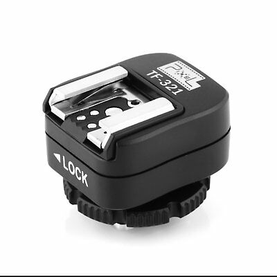 Hot Shoe Adapter Converter TF-321 Compatible with E-TTL Flash for Canon Flashgun