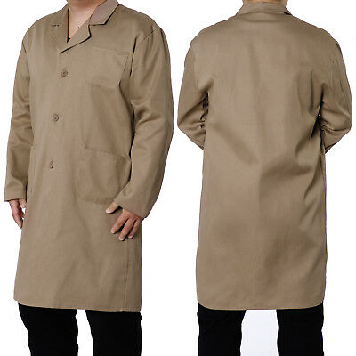 Lab Laboratory Doctor Workwear Coat Jacket Medical Food Hygiene Khaki