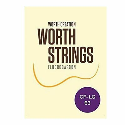 Worth Ukulele Strings Clear FluoroCarbon Fat Low-G  63 inch Concert / Soprano