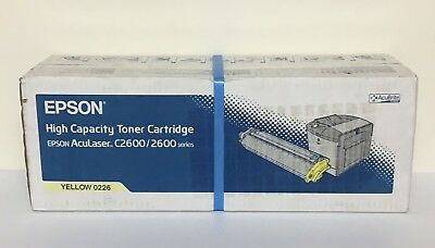 Epson Genuine High Capacity Yellow Toner Cartridge 0226 Aculaser C2600
