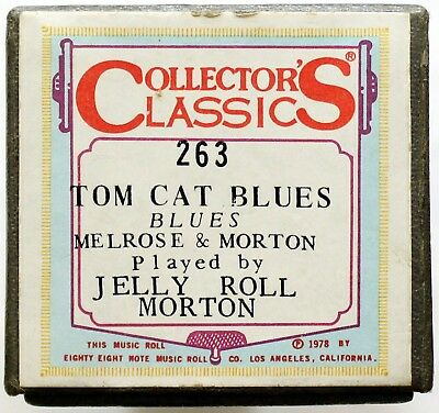 "JELLY ROLL MORTON ""Tom Cat Blues"" COLLECTORS CLASSICS 263 [PIANO ROLL]"
