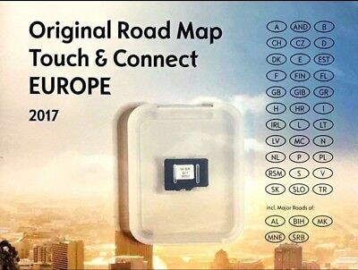 OPEL NAVIGATION Micro SD TOUCH & CONNECT EUROPE 2017 CORSA ZAFIRA FAMILY