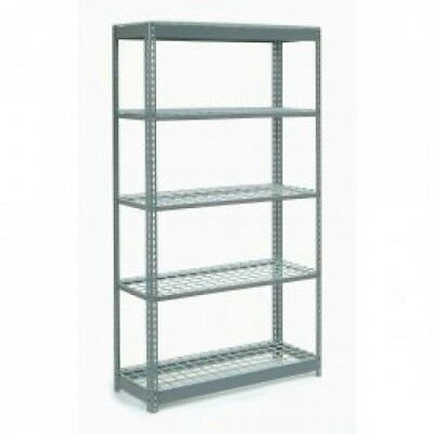 Heavy Duty Shelving 48'W X 24'D X 72'H With 5 Shelves, Wire Deck