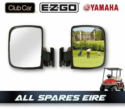 Golf Cart Buggy Side Wing Mirrors Fits Club Car Ezgo Yamaha
