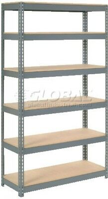 Extra Heavy Duty Shelving 48'W X 12'D X 72'H With 6 Shelves, Wood Deck