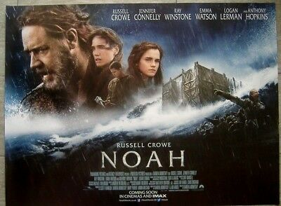 Noah (2014) D/S UK QUAD POSTER,Russell Crowe, Jennifer Connelly, Anthony Hopkins