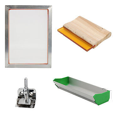 Screen Printing Tools Kit Aluminium Frame Hinge Clamp Emulsion Coater Squeegee