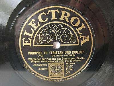 2x 78rpm OTTO KLEMPERER - WAGNER TRISTAN & ISOLDE Prelude - ELECTROLA TOP !
