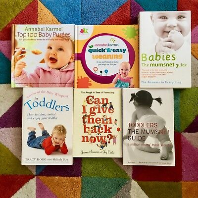Baby parenting and weaning book bundle Karmel Mumsnet Tracy Hogg Baby Whisperer