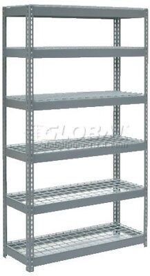 Extra Heavy Duty Shelving 48'W X 24'D X 84'H With 6 Shelves, Wire Deck