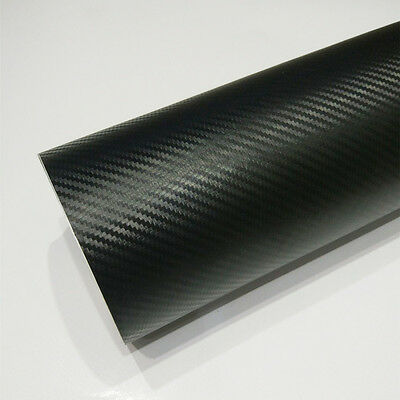 "6""×50"" DIY Phone Auto Car 3D Carbon Fiber Look Vinyl Wrap Decal Sticker Film"
