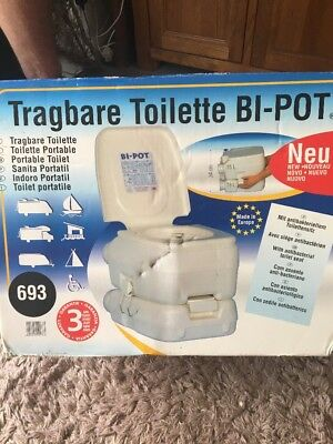 Fiamma Bi-Pot 693 Portable Toilet / Camping / Festivals / Fishing BNIB