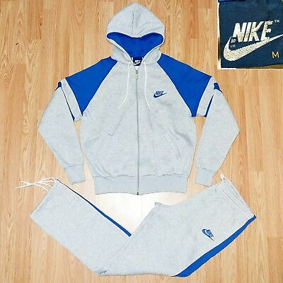 bd7972512b33 80s Nike Sweatsuit Track Suit Vintage Rare Hype Royal Heather Grey Blue Tag  Logo