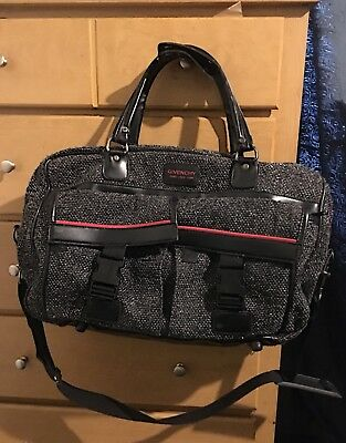 givenchy bag black leather/wool stitch
