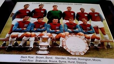 West Ham Utd FA Cup & Charity Shield Winners 1963/64 Framed Print