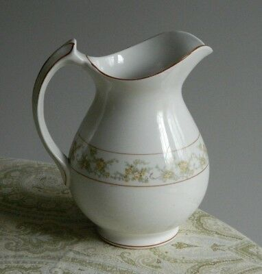 Early Edwin E Knowles China Co Large Milk Size Pitcher w/ Yellow Roses