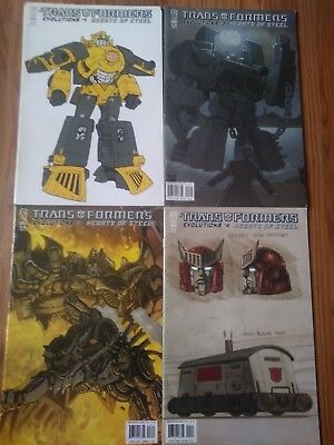 Transformers Hearts of Steel #1-4 full mini-series IDW Comics Lot FREE SHIPPING