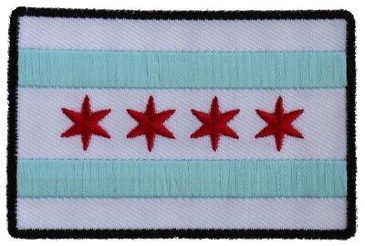 CHICAGO FLAG - IRON or SEW-ON PATCH