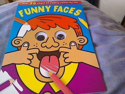 Funny Faces new children's colouring book