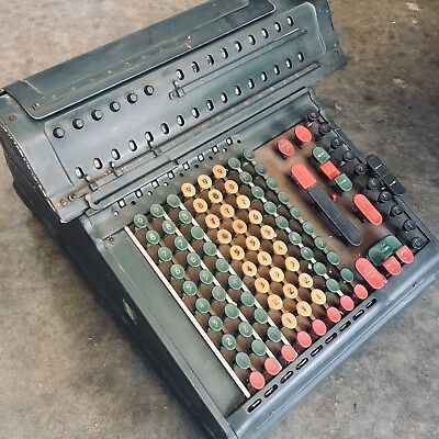 Vintage Marchant Calculating Machine Calculator 1920s-1940's Mechanical Adding