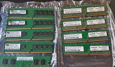 JOB LOT 9pcs DESKTOP MEMORY RAM DDR2  4 x 1GB 4 x 512MB 1 x 256MB