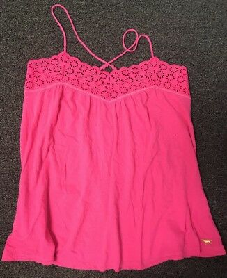 Victoria's Secret PINK Camisole Tank Top Lingerie Eyelet Lace Small