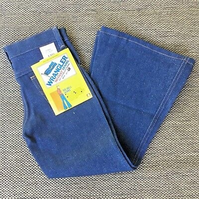Vintage Wrangler No Fault Denim Big Bell Jeans USA KIDS 8 Regular 24 x 22.5 NEW