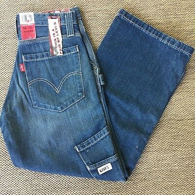 Levis 14 Regular 27 x 27 Painter Carpenter Blue Jeans New with Tags CHILDRENS