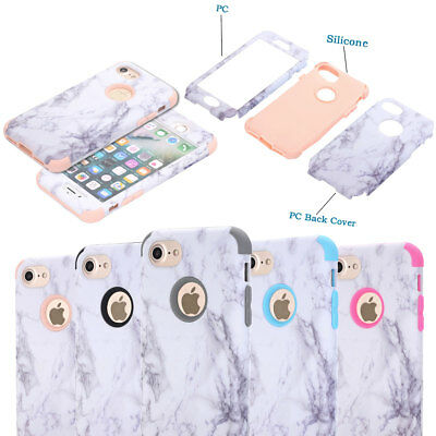 For Apple iPhone 5 5s SE Case Marble Pattern Shockproof Full Protective Cover