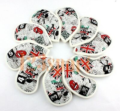 Set Of 10pcs 3-pw Golf Iron Wedge Club Headcovers Covers for Cleveland Titleist