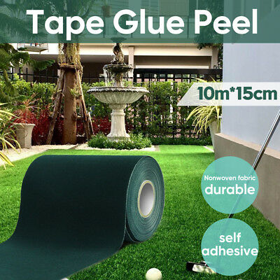 10M x 15cm Self Adhesive Synthetic Turf Artificial Grass Joining Tape Glue Peel
