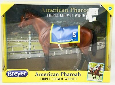New Breyer Classic American Pharoah 2015 Triple Crow Winner 1-12-Scale NIB 9184