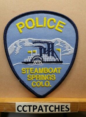 Steamboat Springs, Colorado Police (Blue) Shoulder Patch Co