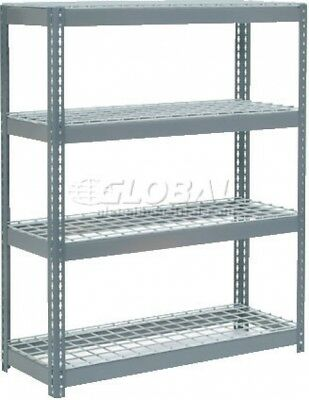 Extra Heavy Duty Shelving 48'W X 24'D X 60'H With 4 Shelves, Wire Deck