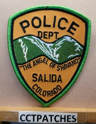 Salida, Colorado Police (Green/orange) Shoulder Patch Co