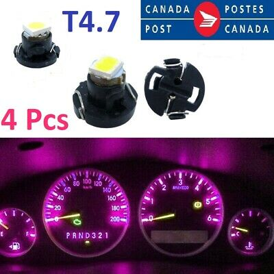 4x T4.7 Pink 5050-SMD LED Dashboard Panel Light Bulb for Auto Car Interior