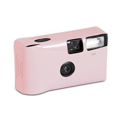 10 x Single Use Disposable Camera - Pink Solid Colour Design