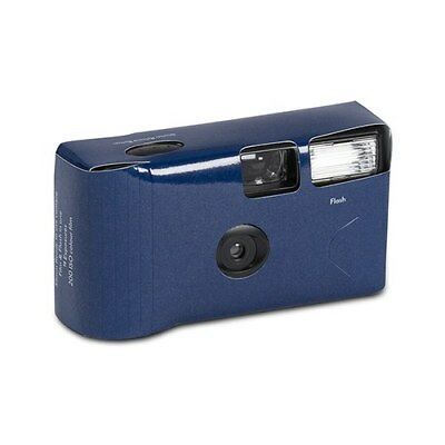 10 x Single Use Disposable Camera - Navy Blue Solid Colour Design