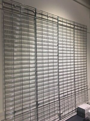 ** Wire mesh metal wall hanging systems - 246cm H x 61cm wide -Plenty available