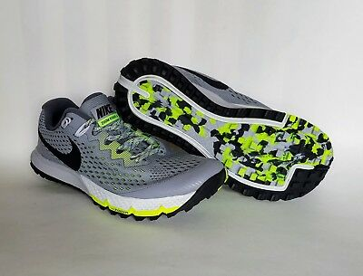 242895fbfffe Nike Air Zoom Terra Kiger 4 Mens Sz 7.5 Grey Volt Trail Running Shoes  880563 002