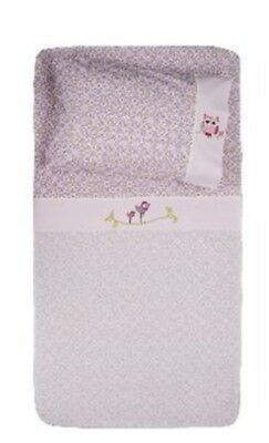 Living Textiles Poppy Seed 3pce Cot Set 100%Cotton -Boori Size RRP $69.96