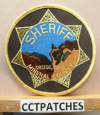 Mineral County, Colorado Sheriff (Police) Shoulder Patch Co