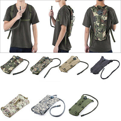 3L Military Water Bladder Bag Hiking Camping Hydration Backpack Camelbak Pack