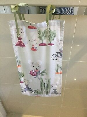 Mouse In The Garden, Slim Line, Space Saving, Baby Diaper Nappy Stacker,