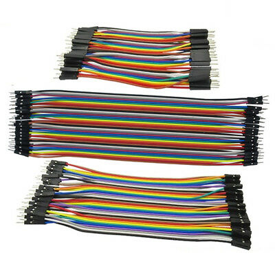 40X Breadboard Dupont Jump Wire M-M/M-F/F-F 10/20/30cm Cable 2.54mm For Arduino