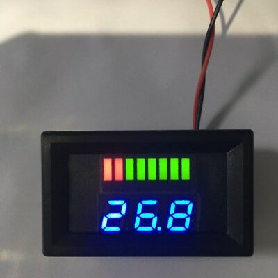 UK LED Digital Battery Capacity Indicator dc Voltage Tester Voltmeter Monitor