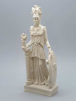 Athena Minerva Greek Roman Goddess Cast Marble Statue Sculpture 10 in