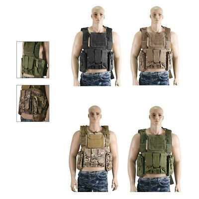 Camouflage Military Waistcoat Airsoft Tactical Combat Molle Assault Vest Tops